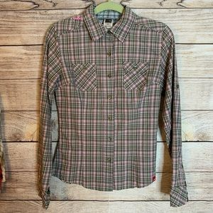 The North Face Plaid Western Style Button Down